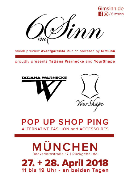 Pop Up Shop Ping mit 6imSinn in München